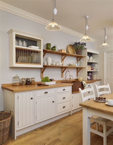 rustic cottage kitchen ideas cottage kitchen rustic painted white with a copper 4966