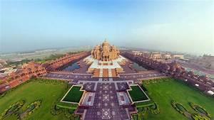 HD Background Beautiful Akshardham Temple Panorama Top ...