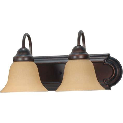 bronze vanity light glomar 2 light mahogany bronze vanity light with chagne