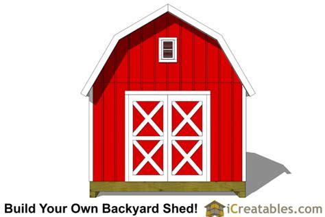 Gambrel Shed Plans 12x12 by 12x12 Gambrel Shed Plans 12x12 Barn Shed Plans