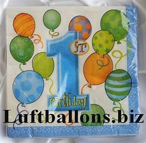 Deko Geburtstag 1 : partydekoration zum 1 geburtstag servietten zahl 1 lu kinder geburtstag party deko 1 ~ Markanthonyermac.com Haus und Dekorationen