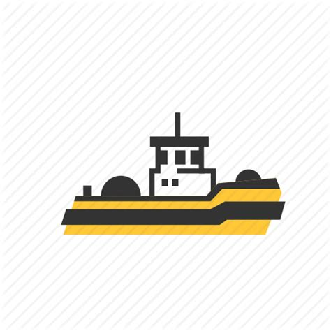 Barge Boat Icon by Transport Ships By Driel