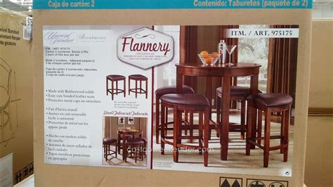 costco dining table in store universal furniture broadmoore flannery 5 piece counter