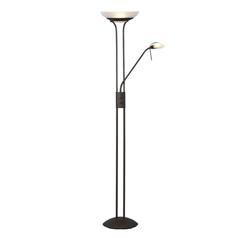 torchiere floor l with reading light shop galaxy 70 875 in matte bronze torchiere with reading