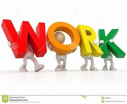 Clip Clipart Word 3d Office Worker Job