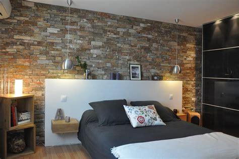décoration chambre à coucher avec mur de