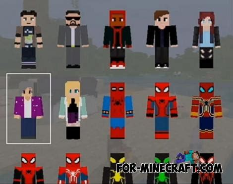 spider man hd skin pack  minecraft pe