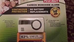 First Alert Carbon Monoxide Alarm Costco Co1210 Unboxing