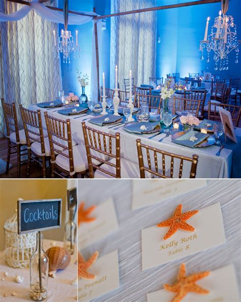beach themed wedding reception decoration ideas elegant beach inspired wedding reception decor onewed com