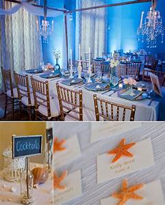 elegant beach inspired wedding reception decor onewedcom With beach decorations for wedding reception