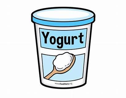 Yogurt Dairy Clipart Vanilla Drawing Cartoon Drawings