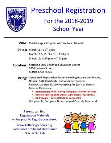 preschool registration process home orchard park elementary school 701
