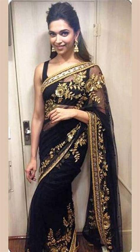 black  gold saree blouse fashion ql