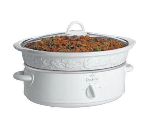 rival sce600 ef 6 quart crock pot cooker white white qvc