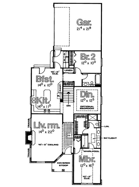 house plan for narrow lot single house plans for narrow lots cottage house plans