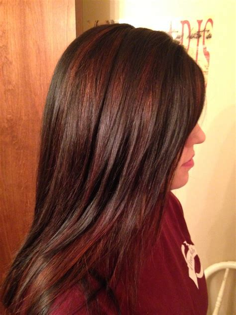 chocolate brown  red highlights love  style