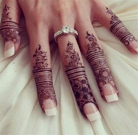 elegant  unique finger mehndi designs
