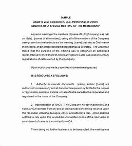 corporate meeting minutes guidelines With corporate minute template