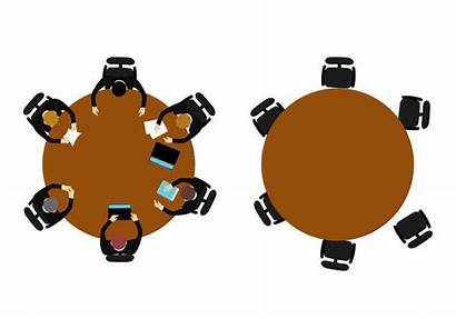 Meeting Vectors Vector Business Table Round Clipart