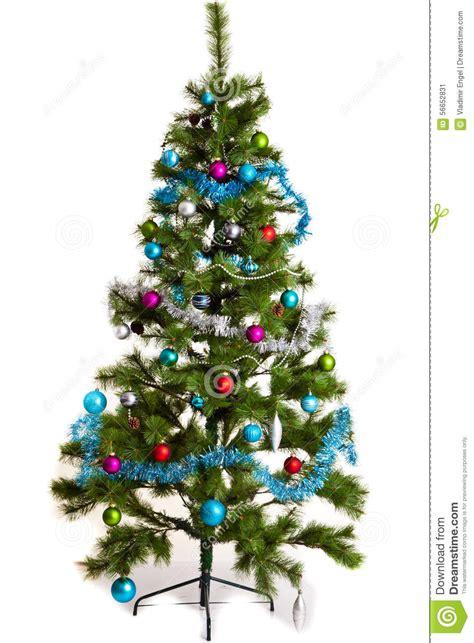 christmas tree decorations 2016 new year stock image