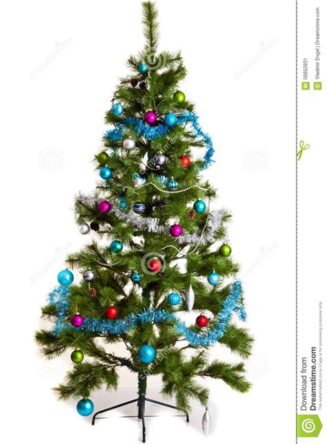 christmas tree decorations   year stock image