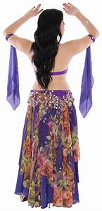 Professional Belly Dance Costume from Egypt Purple Floral