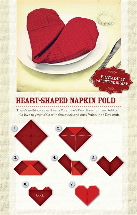 Servietten Herz Falten by Shaped Napkin Folding How To 247moms Valentines