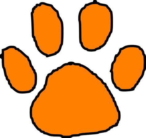 Tiger Paw Clip Orange Tiger Paw With Black Outline Clip At Clker