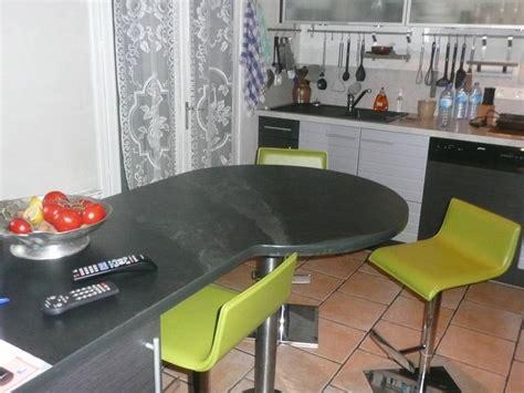 meuble cuisine arrondi minardoises plan de travail avec arrondi total