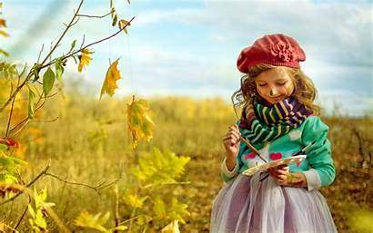 Child Nature Fall Autumn Wallpapers Background Sweet