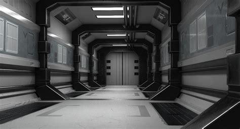 scifi hallway turbosquid