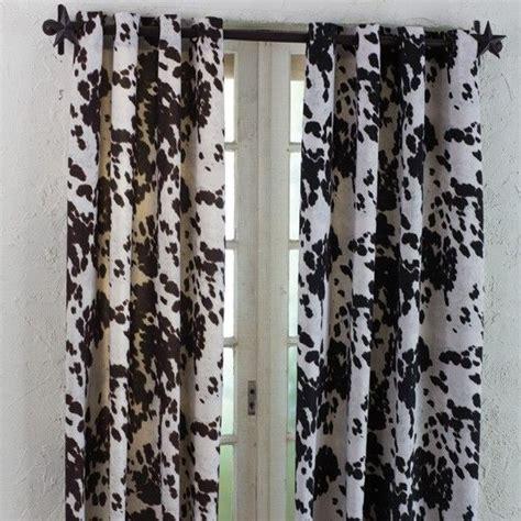 Cowhide Window Treatments by Santana Faux Cowhide Drapery Panel Drapery Panels