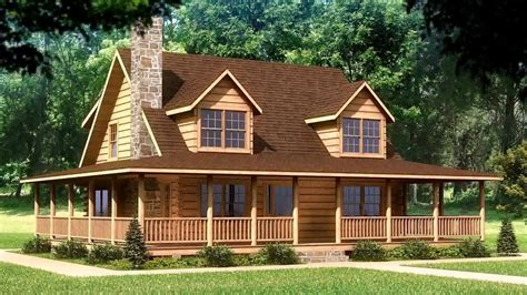 small log cabin plans  wrap  porch gif maker daddygifcom youtube