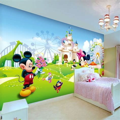lovely mickey minnie photo wallpaper  wall mural