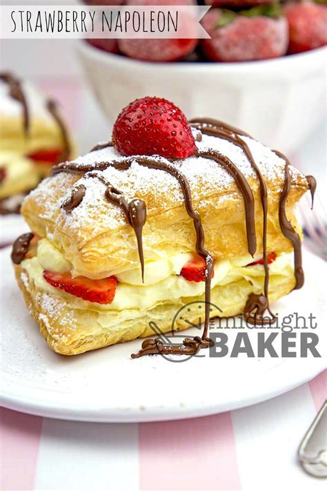 Easy Strawberry Napoleons - The Midnight Baker