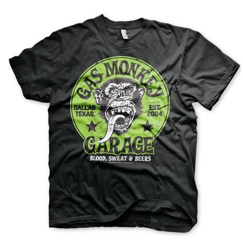 gas monkey garage t shirt green logo on up