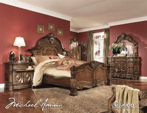 michael amini bedroom suites king size bedroom sets aico 6pc court king size