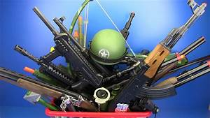 Box Of Toys     Military  U0026 Police Guns Toys   Video For