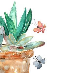 Painting of a Southwestern Desert Cactus