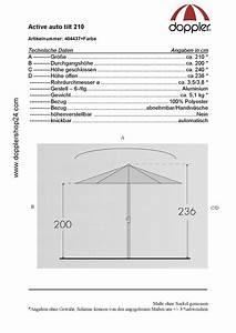 doppler sonnenschirm active auto tilt 210 cm With französischer balkon mit doppler sonnenschirm ersatzbezug
