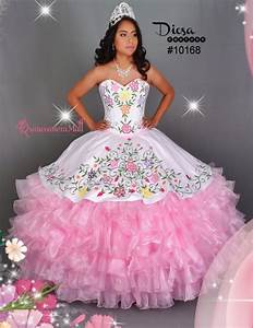 Multi Color Flowers Quinceanera Dress #10168QM