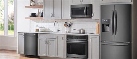kitchen design ideas  black stainless steel appliances