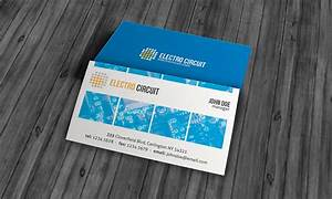 Unique electrical business card template free download for Electronic business card templates