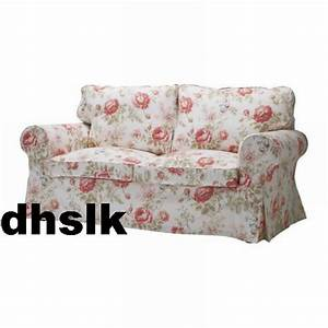 Ikea ektorp 2 seat loveseat sofa cover slipcover byvik for Multi floral sofa covers