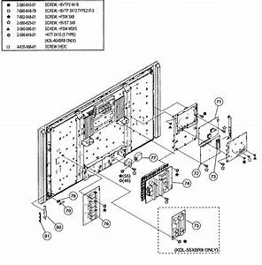 Chassis 2 Diagram  U0026 Parts List For Model Kdl46xbr8 Sony
