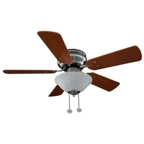 hton bay lugano 36 in satin nickel hugger ceiling fan
