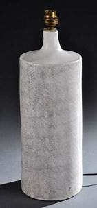 Pied De Lampe Ceramique : georges jouve rare et important pied de lampe de forme cylindrique en c ramique ~ Teatrodelosmanantiales.com Idées de Décoration