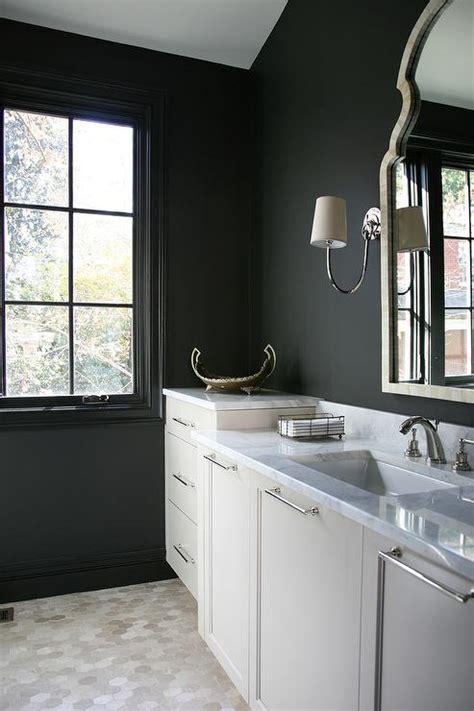 Black Bathroom Walls  Home Design