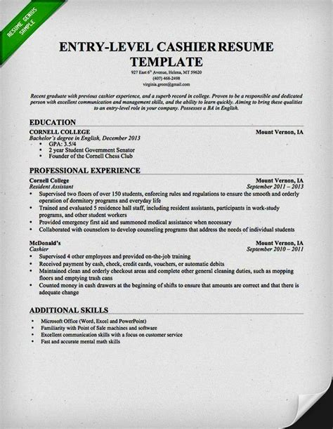 Entry Level Resume Exles For College Students by Entry Level Resume Exles Resume Template Cover Letter