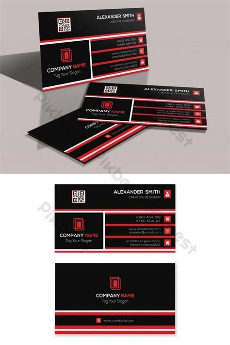 red  black creative business card  images
